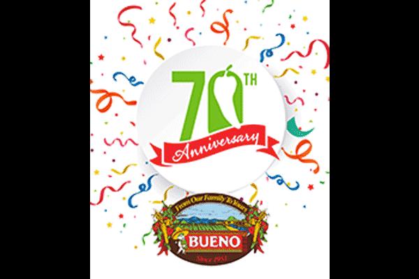 Bueno Foods 70Th Anniversary Logo