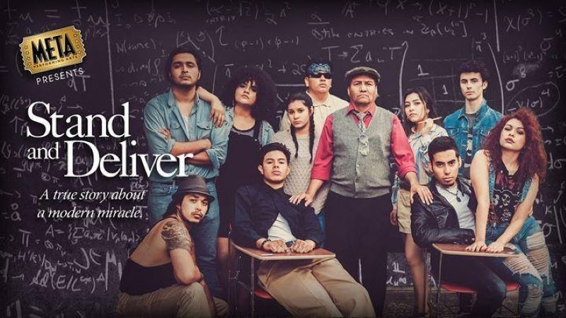 Photo of real life Stand and Deliver teacher and students