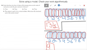 Example Of Student Work Solving A Division Problem Involving Fractions