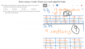 Example Of Student Work Solving A Division Problem Involving Fractions Solving A
